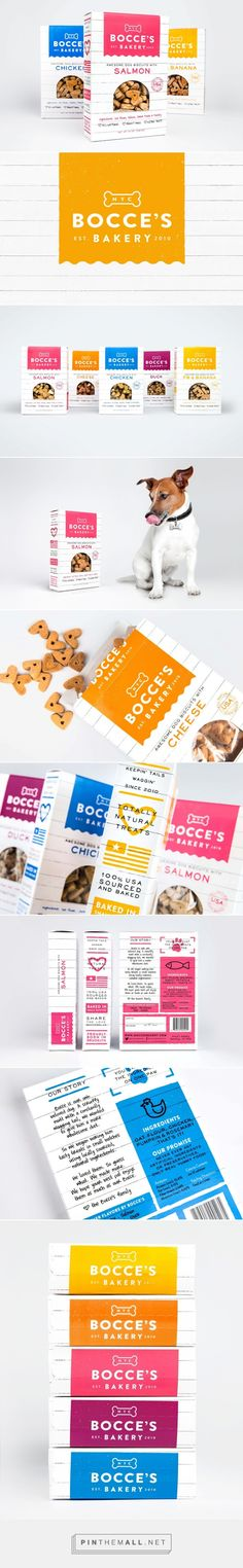 Bright, clean designs for Bocce's Dog Bakery dog treat packaging Dog Treat Packaging, Bakery Packaging, Food Packaging Design, Beverage Packaging, Packaging Design Inspiration, Brand Packaging, Dog Branding, Branding Design, Corporate Branding