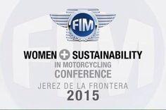 O Conferencia Mujer y Sostenibilidad en Motociclismo. Noviembre'15. Jerez. #JerezesMotor #ViveJerez