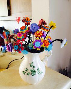 My button flower bouquet