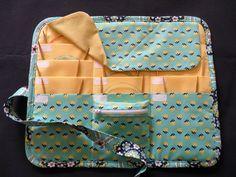CIRCULAR knitting needle organizer case storage holder, holds 12 circular needles by SunnyDayNeedleworks on Etsy