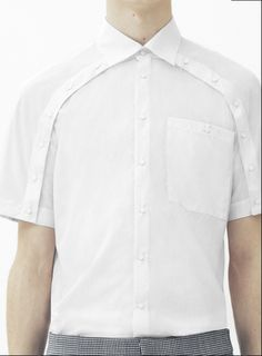 SPRING 2014 MENSWEAR Christopher Kane Plain White Shirt, White Shirt Men, White Shirts, Fashion Details, Fashion Design, Inspiration Mode, Men Design, Fashion Outfits, Mens Fashion