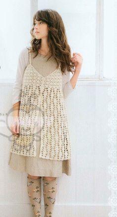 Japanese Crochet Lace Tunic Dress Pattern Japanese by DotsStripes, $2.50