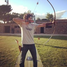 My #hot #husband with his #longbow