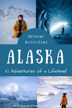 Thanks to these winter activities, I had the adventure of a lifetime exploring Alaska over the past month. The wildest & most beauitful trip! | Alaska winter Alaska Travel, Travel Usa, Alaska Trip, Alaska Winter, Winter Fun, Snowmobile Tours, Kenai Fjords, Us Road Trip, Winter Activities