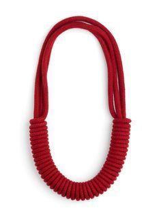 Multi-Strand Necklace - Red | Eleanor Bolton