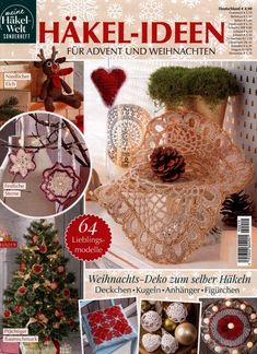 Meine Hakel-Welt Discussion on LiveInternet - Russian Service of Online Diaries Christmas Bulbs, Christmas Crafts, Christmas Decorations, Holiday Decor, Online Diary, Crochet Magazine, Doilies, Crochet Projects, Rubrics