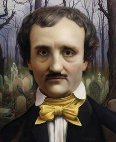 Edgar Allan Poe by Will Wilson Annabel Lee, Edgar Allen Poe, Allan Poe, Edgar Allan, Baltimore, Vincent Price, American Literature, National Portrait Gallery, Magazine Art