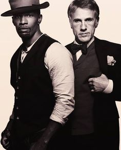 Jamie Foxx and Christoph Waltz for Django Unchained