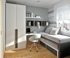 small teen room design for boys Beautify Your Young Son's or Daughter's Bedroom According To Their Interest Small Teen Room, Small Rooms, Small Teenage Bedroom, Modern Teen Bedrooms, Teen Girl Bedrooms, Apartment Bedroom Decor, Small Room Design, Awesome Bedrooms, Minimalist Bedroom
