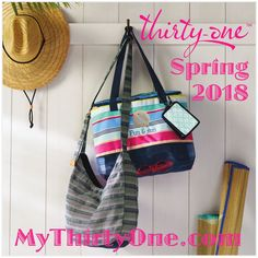 #31 Thirty-One's NEW Spring/Summer selling season starts February 1, 2018! This is your one-stop shop for everything you need for Spring and Summer 2018. Check out the Crossbody Organizing Tote, the Sand N. Shore Thermal Tote or the new Retro Metro Hobo Crossbody. Find everything at MyThirtyOne.com/PiaDavis or find your consultant in the upper right corner of the website.