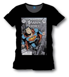 Camiseta Action Cómics. Superman. DC Cómics Estupenda camiseta donde podemos ver el diseño de una de las portadas del Action Cómics con Superman al frente volando preparándose para enfrentarse a sus enemigos. Camiseta 100% oficial y licenciada.