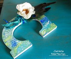 Makin's Clay Blog: Gel Print Monogram with Makin's Clay® Flower by Ci...