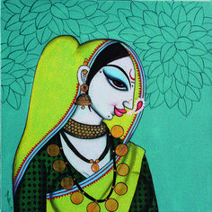 """Find out additional info on """"contemporary abstract art painting"""". Have a look at our web site. Madhubani Art, Madhubani Painting, Durga Painting, Contemporary Abstract Art, Modern Art, Indian Folk Art, Indian Artist, Indian Art Paintings, Face Paintings"""