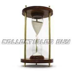Brown Wooden Sand Timer Vintage Old White Sand Clock