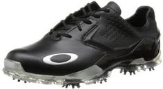 Made from leather with a rubber sole these mens carbon pro 2 golf shoes by Oakley feature a padded tongue and collar