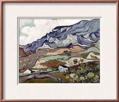 Van Gogh: Landscape, 1890 Framed Art Print by Vincent van Gogh at Art.com