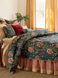 Hatfield Floral Jacquard and Merrywood Matelasse Collection - Country Curtains®
