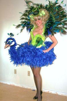 diy kleidung karnevalskostüme vogel pfau