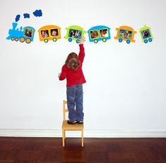 howto decorate a half wall in daycare | Cool Wall Peel Stickers: For kids | Child Day Care Centers & Pre ...