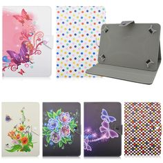 """11.40$  Buy now - http://ali8en.shopchina.info/go.php?t=32670453169 - """"10"""""""" Flower butterfly Universal Flip PU Leather Adjustable Stand Case on Tablets Compact Cover Cases For 10 Inch Tablet PC S4A92D""""  #buyonline"""