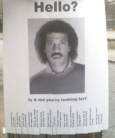 Hello?  Is it me you're looking for? (Useless Flyers)
