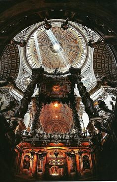 Inside of the Basilica of St. Peter at Vatican City