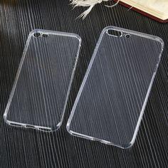 유연한 클리어 tpu case 대한 iphone 5 5 s se 6 6 초 7 플러스 6 플러스 7 플러스 슬림 크리스탈 위로 보호 고무 커버 fundas 실리콘 젤