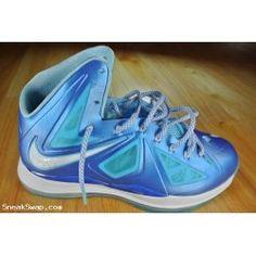 Nike Lebron James 10 X Blue Diamond Size 10