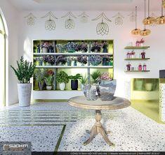 Đi vào phía trong, những vật liệu được lựa chọn đều toát lên vẻ đẹp đúng gu của thiết kế shop hoa đẹp, hiện đại. Từ việc lựa chọn gạch terazzo tươi sáng để lát sàn. Đến việc tối giản chi tiết trong thiết kế. #saokimdecor #boutique #flowershop #showroom #shop #designshowroom #designshop #cửa_hàng_hoa #carpet #chair #table #interior #interiordesign #design #designs  #interiors #インテリア #interieur #innenraum #nộithất Da Nang, Interior S, Design Shop, Furniture, Home Decor, Room Interior, Decoration Home, Room Decor, Home Furnishings