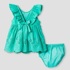 Baby Girls' Empire Dress - Baby Cat & Jack Jade Green 3-6 Months, Infant Girl's, Size: 3-6 M