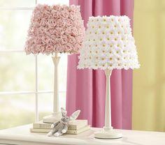 lamp shade decor, rose daisy, shabby chic