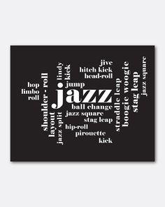 Dance  Wall Art  Jazz  Typography Art  by SusanNewberryDesigns, $15.00