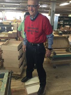 Mack stops at nothing to make sure Gallery Furniture customers get the best, most durable pieces around! Look at him giving these drawers the standing test! | Houston, TX | Gallery Furniture |
