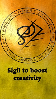 Sigil to boost creativity Sigil requests are closed. Wiccan Spell Book, Magick Book, Magick Spells, Witch Spell, Wicca Witchcraft, Wiccan Symbols, Magic Symbols, Symbols And Meanings, Viking Symbols