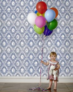 Adorable Circus (Navy) would make any childs' room more festive and whimsical! New design by Emily Isabella.