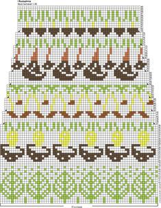 Sienestäjän sukat Novita 7 Veljestä Fair Isle Pattern, Knitting Socks, Patterns, Crochet, Diy, Knitting Patterns, Cast On Knitting, Knit Socks, Block Prints