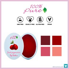 100% Pure – Fruit Pigmented Lip Butters ($15)