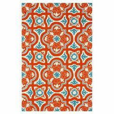 Equally at home on the patio or in your foyer, this artfully hand-hooked indoor/outdoor rug brings an eye-catching pop of style to your decor with its vibrant tile motif.   Product: RugConstruction Material: 100% PolypropyleneColor: MultiFeatures: Hand-hookedSuitable for indoor or outdoor useDimensions: 5' x 8'Note: Please be aware that actual colors may vary from those shown on your screen. Accent rugs may also not show the entire pattern that the corresponding area rugs have.