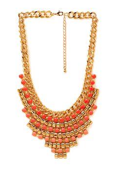 Beaded Babe Bib Necklace   FOREVER21 - 1000061921