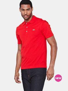 dbe3b661a26 Lacoste Mens Plain Polo Shirt Plain Polo Shirts, Shopping Catalogues,  Designer Herrenbekleidung, Lacoste