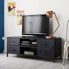 metalica industrial furniture media tv stand unit industrial tv unit industrial style industrial furniture