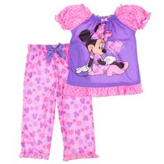 Disney Girls 26X 2Piece Minnie Mouse Pajama Set 6X Pink ** Read more reviews of the product by visiting the link on the image.