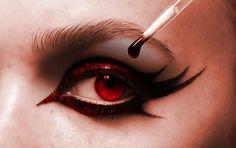 the devil wears eyemakeup-red. by kawaiimess.deviantart.com on @deviantART