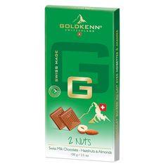 Goldkenn Gama G, Ciocolata cu lapte, alune si migdale Milk