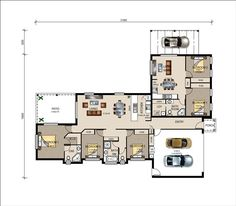 House plan with granny flat attached google search for Extended family house plans