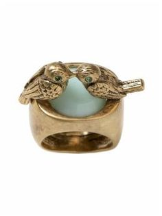 """Juicy Couture """"Kissing Birds"""" ring.  Available through Piper Lime."""