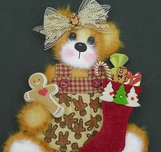 TWAG*DEBBIE*CHRISTMAS BABY GIRL TEAR BEAR PAPER PIECE PREMADE PAGES CARD ALBUM