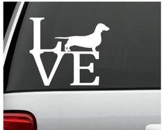 Dachshund Weiner Dog Love Decal Sticker for Car Truck SUV Van Laptop W – Furrtastic Finds