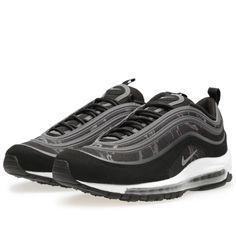 sports shoes d2222 4098b Nike Air Max 97 Black Gray Womens Shoes
