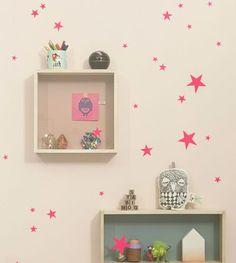 print & pattern blog - neon pink stars from ferm living